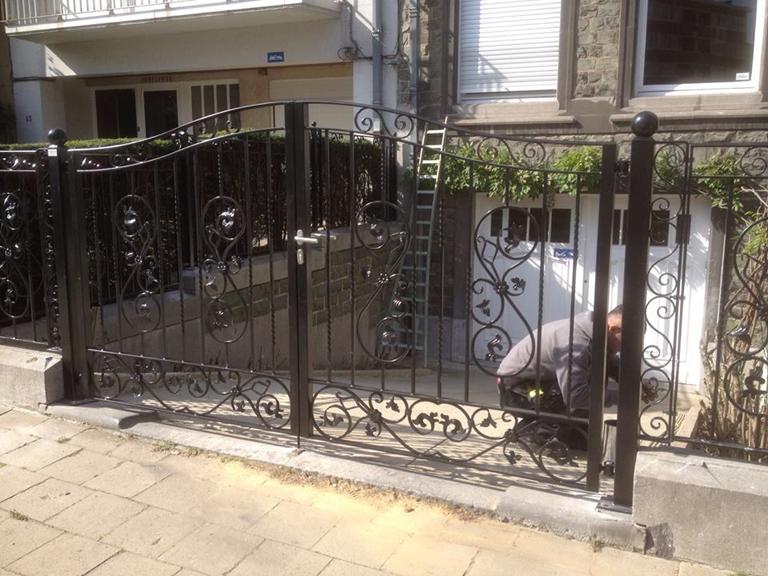 portail woluwe saint pierre 2014 atelier ferronnerie yasar